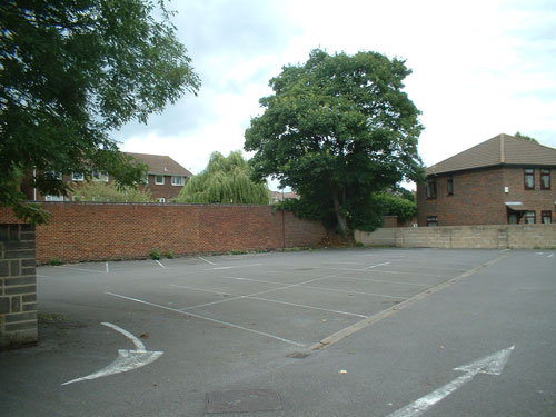 A view of the rear car park